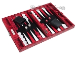 picture of Hector Saxe Python Leather Travel Backgammon Set - Red (2 of 12)