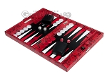 picture of Hector Saxe Python Leather Travel Backgammon Set - Red (3 of 12)