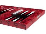 picture of Hector Saxe Python Leather Travel Backgammon Set - Red (6 of 12)