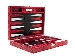 picture of Hector Saxe Python Leather Travel Backgammon Set - Red (11 of 12)