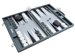 picture of Hector Saxe Carbon Linen/Felt Backgammon Set - Grey (2 of 12)