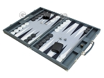 picture of Hector Saxe Carbon Linen/Felt Backgammon Set - Grey (3 of 12)