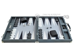 picture of Hector Saxe Carbon Linen/Felt Backgammon Set - Grey (4 of 12)