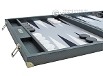 picture of Hector Saxe Carbon Linen/Felt Backgammon Set - Grey (5 of 12)