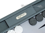 picture of Hector Saxe Carbon Linen/Felt Backgammon Set - Grey (7 of 12)