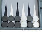 picture of Hector Saxe Carbon Linen/Felt Backgammon Set - Grey (8 of 12)