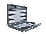 picture of Hector Saxe Carbon Linen/Felt Backgammon Set - Grey (10 of 12)