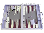 Hector Saxe Leatherette Backgammon Set - Parma - Item: 2500