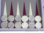 picture of Hector Saxe Leatherette Backgammon Set - Parma (8 of 12)