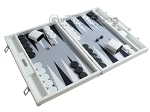 picture of Hector Saxe Leatherette Backgammon Set - White (2 of 12)
