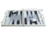 picture of Hector Saxe Leatherette Backgammon Set - White (4 of 12)