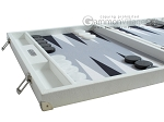 picture of Hector Saxe Leatherette Backgammon Set - White (5 of 12)