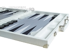 picture of Hector Saxe Leatherette Backgammon Set - White (6 of 12)