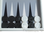 picture of Hector Saxe Leatherette Backgammon Set - White (8 of 12)