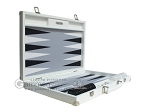 picture of Hector Saxe Leatherette Backgammon Set - White (10 of 12)
