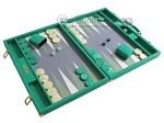 picture of Hector Saxe Faux Lizard Backgammon Set - Anise Green (2 of 12)