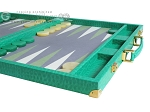 picture of Hector Saxe Faux Lizard Backgammon Set - Anise Green (6 of 12)