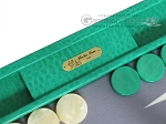 picture of Hector Saxe Faux Lizard Backgammon Set - Anise Green (7 of 12)