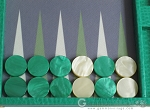 picture of Hector Saxe Faux Lizard Backgammon Set - Anise Green (8 of 12)