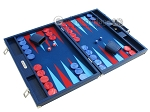 picture of Hector Saxe Faux Lizard Backgammon Set - Blue (2 of 12)
