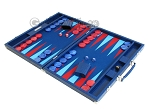 picture of Hector Saxe Faux Lizard Backgammon Set - Blue (3 of 12)
