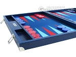 picture of Hector Saxe Faux Lizard Backgammon Set - Blue (5 of 12)