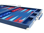 picture of Hector Saxe Faux Lizard Backgammon Set - Blue (6 of 12)