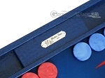 picture of Hector Saxe Faux Lizard Backgammon Set - Blue (7 of 12)