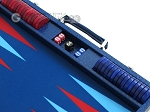 picture of Hector Saxe Faux Lizard Backgammon Set - Blue (9 of 12)
