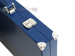 picture of Hector Saxe Faux Lizard Backgammon Set - Blue (12 of 12)