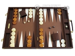 Hector Saxe Faux Lizard Backgammon Set - Brown - Item: 2485