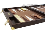 picture of Hector Saxe Faux Lizard Backgammon Set - Brown (5 of 12)