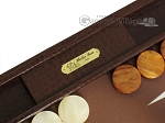 picture of Hector Saxe Faux Lizard Backgammon Set - Brown (7 of 12)