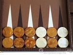 picture of Hector Saxe Faux Lizard Backgammon Set - Brown (8 of 12)