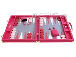 picture of Hector Saxe Faux Lizard Backgammon Set - Fuchsia (4 of 12)