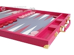 picture of Hector Saxe Faux Lizard Backgammon Set - Fuchsia (6 of 12)
