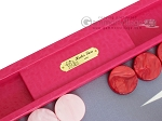 picture of Hector Saxe Faux Lizard Backgammon Set - Fuchsia (7 of 12)
