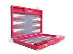 picture of Hector Saxe Faux Lizard Backgammon Set - Fuchsia (10 of 12)
