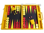 Hector Saxe Faux Lizard Backgammon Set - Yellow