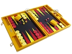 picture of Hector Saxe Faux Lizard Backgammon Set - Yellow (2 of 12)