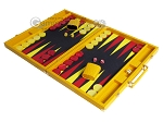 picture of Hector Saxe Faux Lizard Backgammon Set - Yellow (3 of 12)