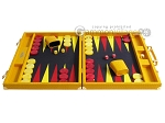 picture of Hector Saxe Faux Lizard Backgammon Set - Yellow (4 of 12)