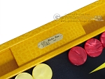 picture of Hector Saxe Faux Lizard Backgammon Set - Yellow (7 of 12)