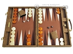 Hector Saxe Faux Snake Backgammon Set - Beige - Item: 2495