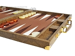 picture of Hector Saxe Faux Snake Backgammon Set - Beige (6 of 12)