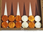 picture of Hector Saxe Faux Snake Backgammon Set - Beige (8 of 12)