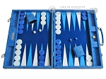 Hector Saxe Faux Snake Backgammon Set - Light Blue - Item: 2494