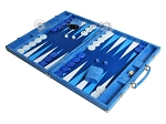 picture of Hector Saxe Faux Snake Backgammon Set - Light Blue (3 of 12)