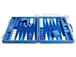 picture of Hector Saxe Faux Snake Backgammon Set - Light Blue (4 of 12)