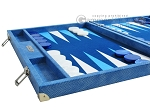 picture of Hector Saxe Faux Snake Backgammon Set - Light Blue (5 of 12)